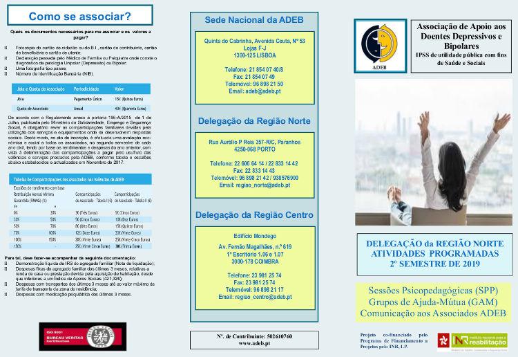 Folheto de actividades DRNorte 2º semeste de 2019-2