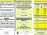 Folheto 2020 (1º Semestre) Atividades ADEB, Sede Nacional