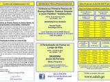 Folheto 2019 (1º Semestre) Atividades ADEB, Sede Nacional