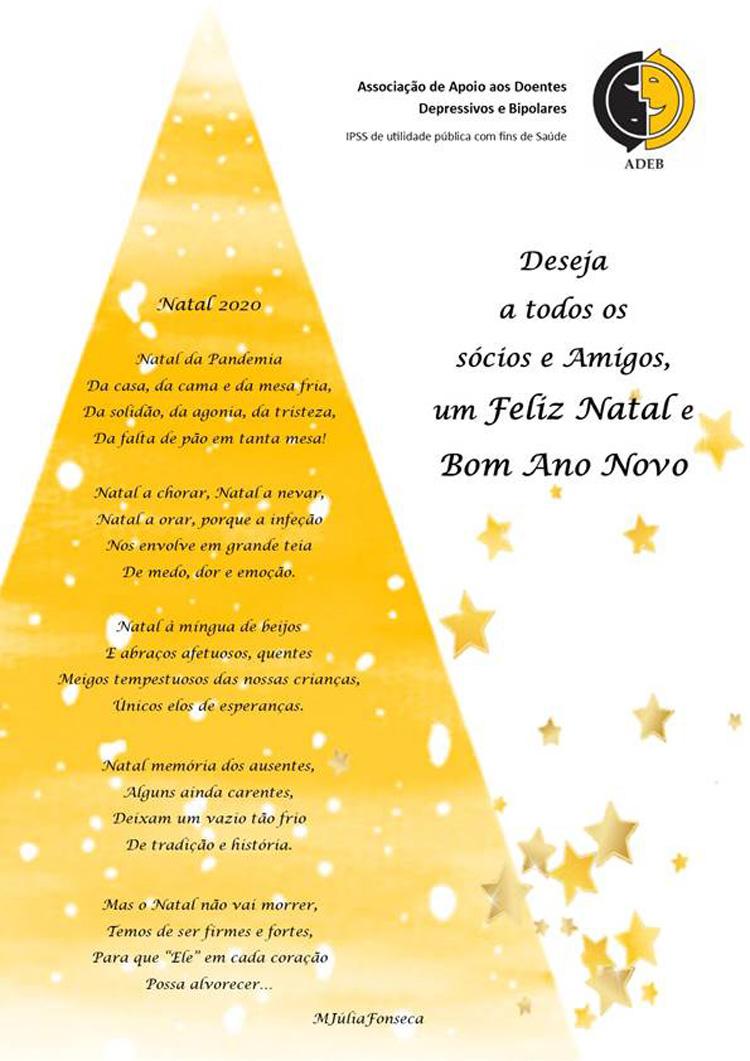 A ADEB deseja a todos os sócios e Amigos, um Feliz Natal e Bom Ano Novo