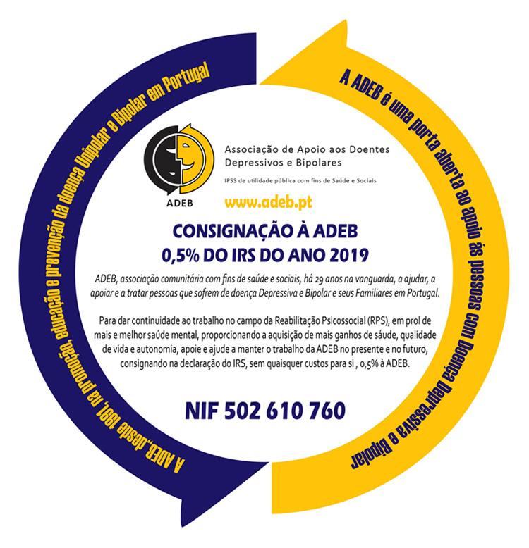 Consignação à ADEB 0.5% do IRS do ano 2019