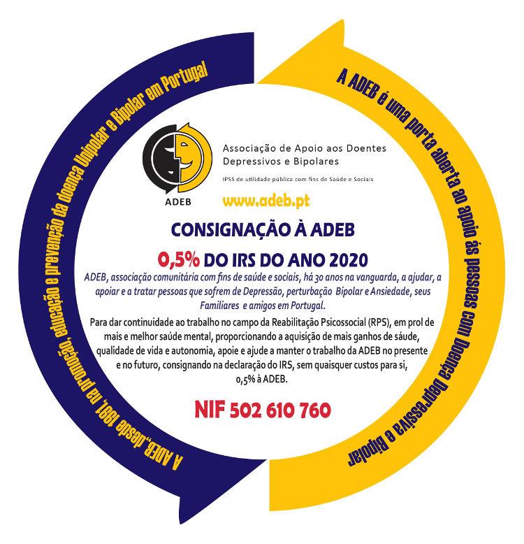 Consignação à ADEB 0.5% do IRS do ano 2020