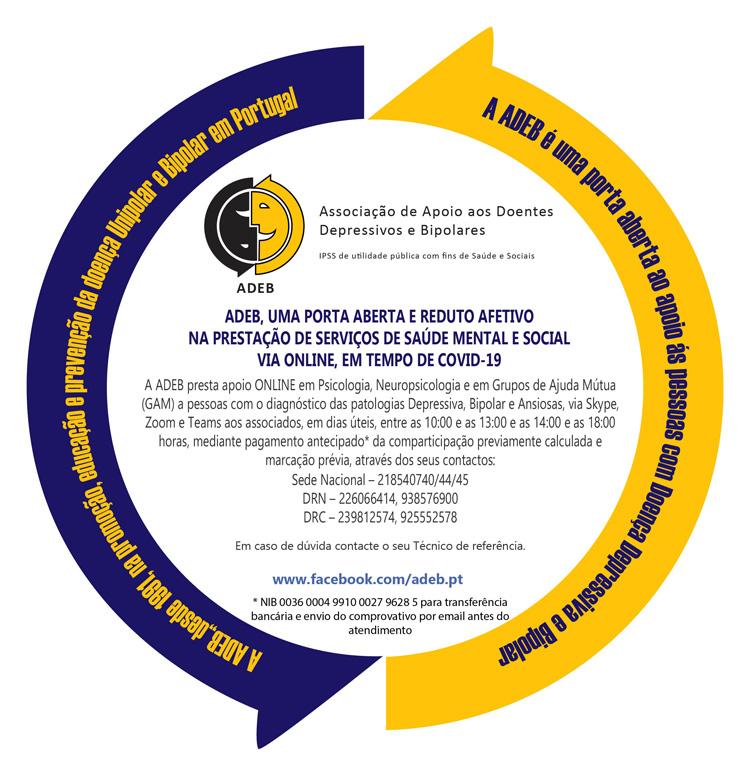 Prestação de serviços de saúde mental e social via online